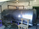 Молочный танк на 8 тонн с двумя установками